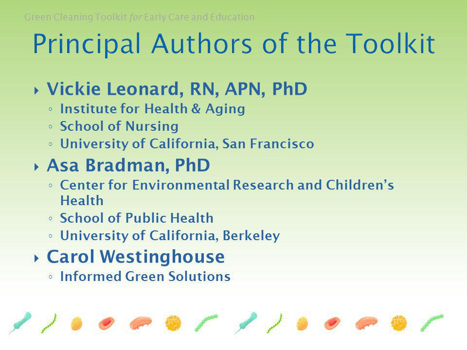 Principal Authors of the Toolkit