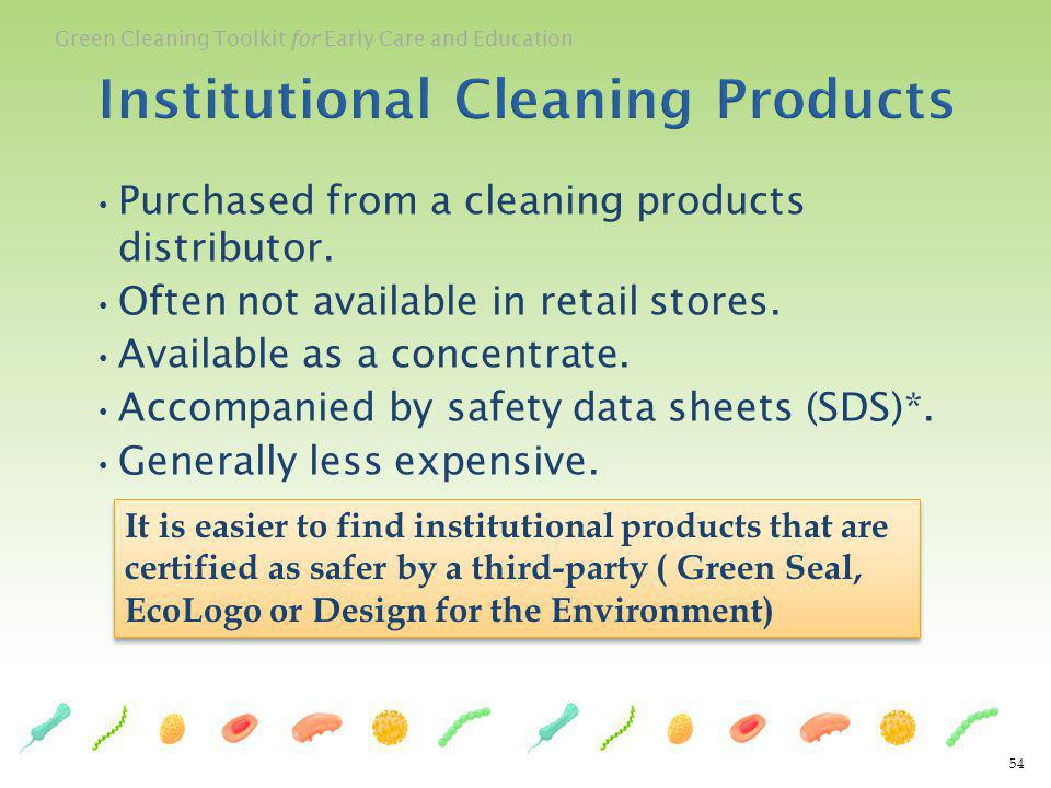Institutional Cleaning Products