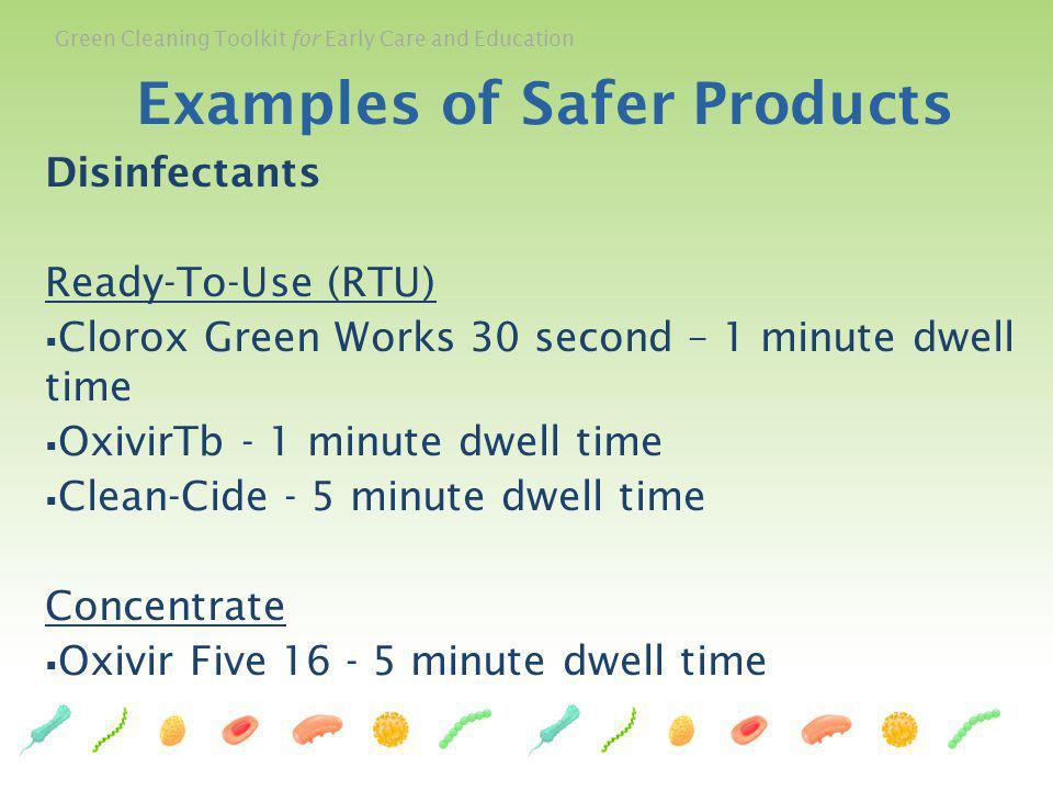Examples of Safer Products