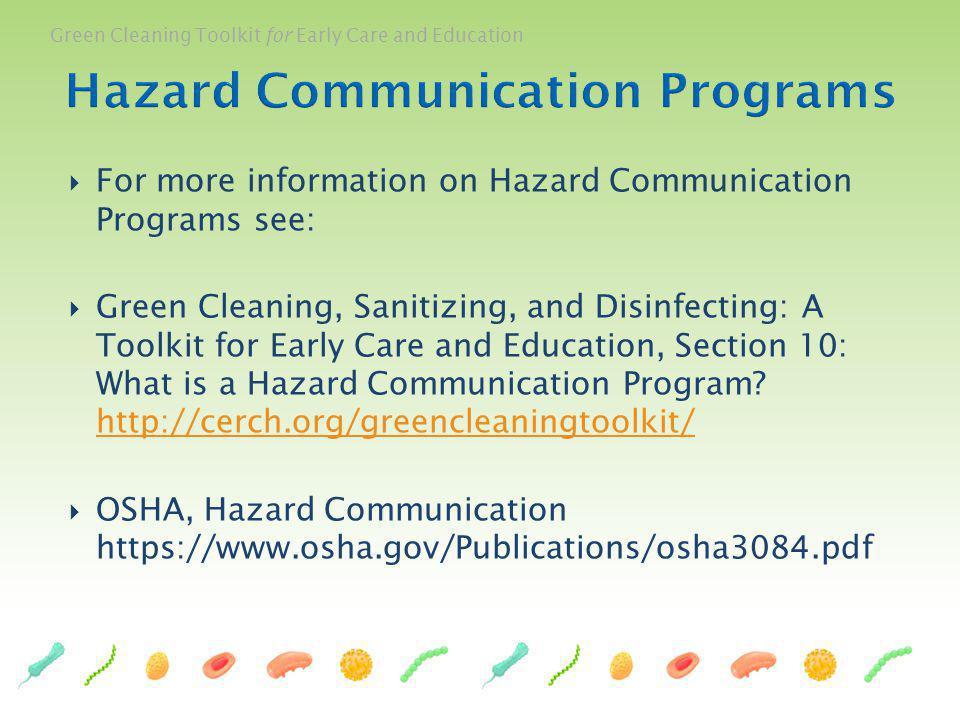 Hazard Communication Programs