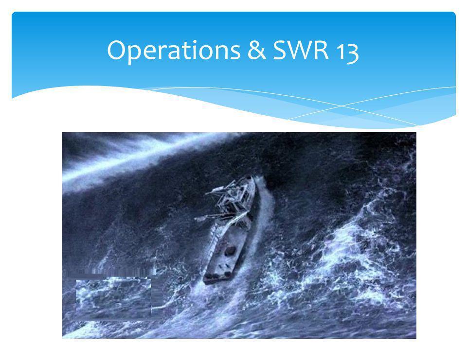 Operations & SWR 13
