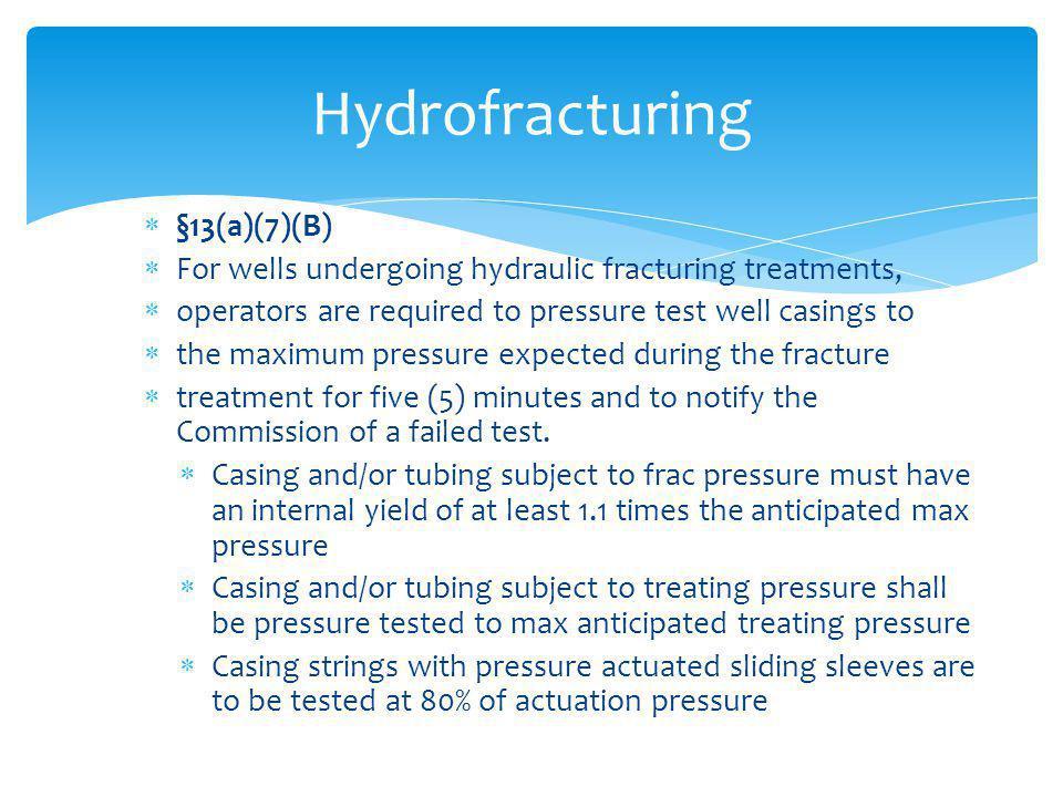 Hydrofracturing §13(a)(7)(B)