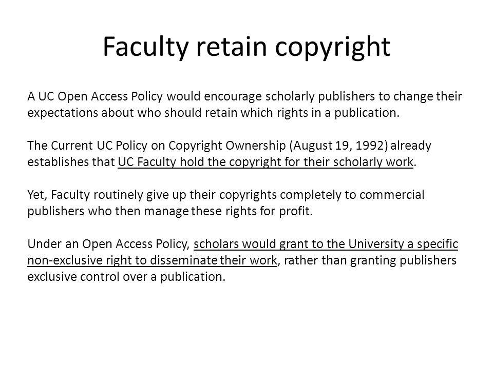Faculty retain copyright
