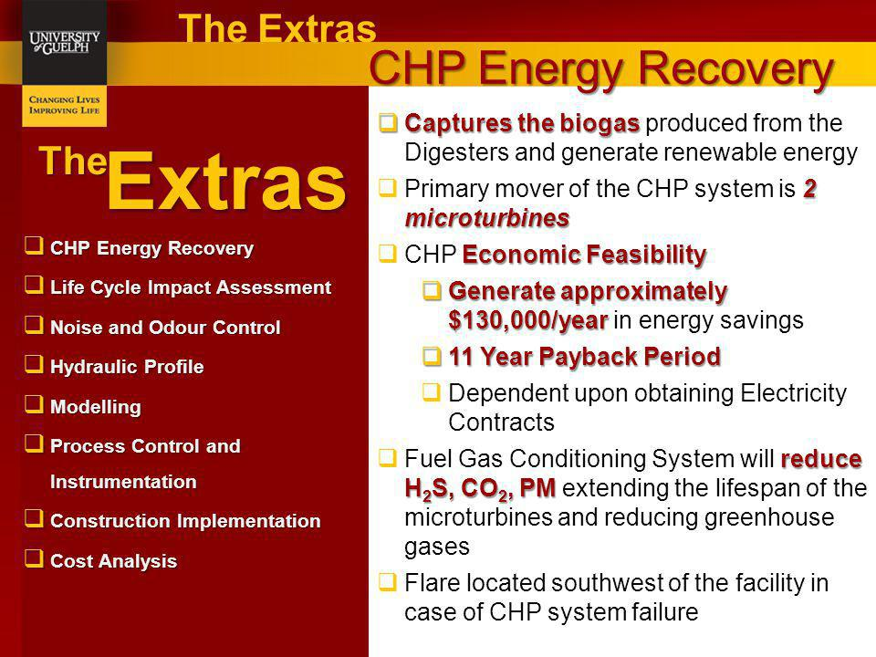 Extras CHP Energy Recovery The Extras The