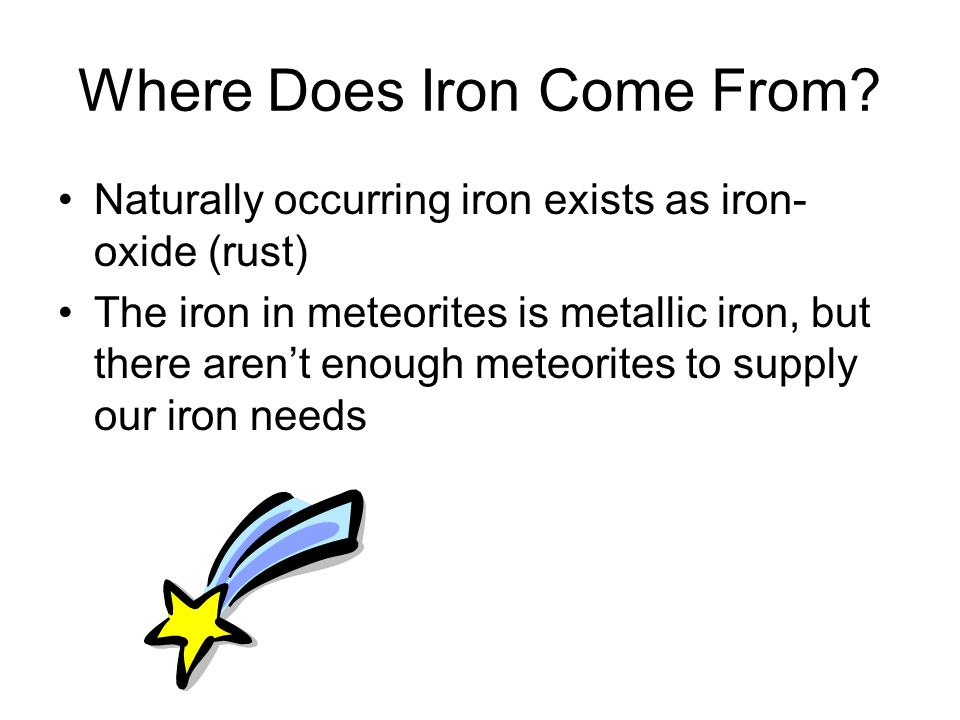 Where Does Iron Come From