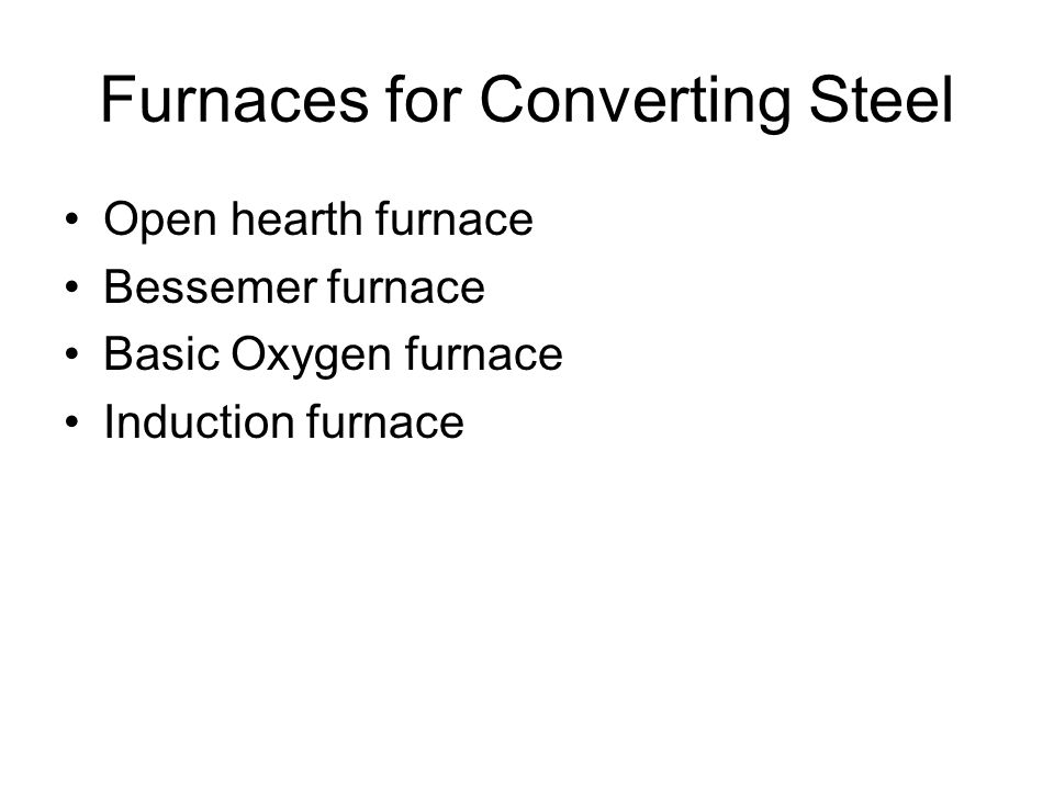 Furnaces for Converting Steel