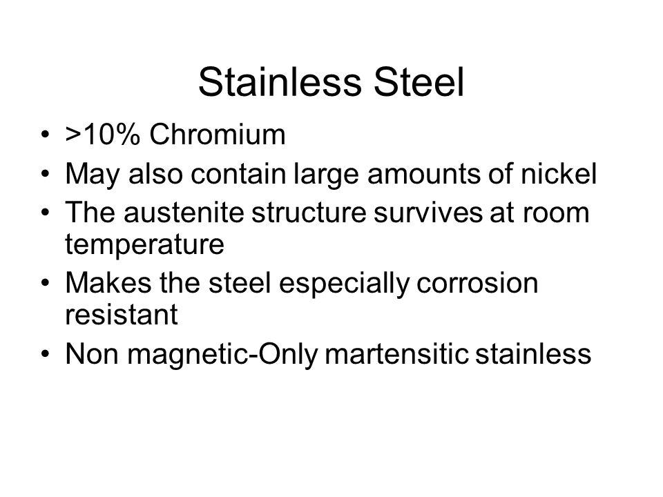 Stainless Steel >10% Chromium