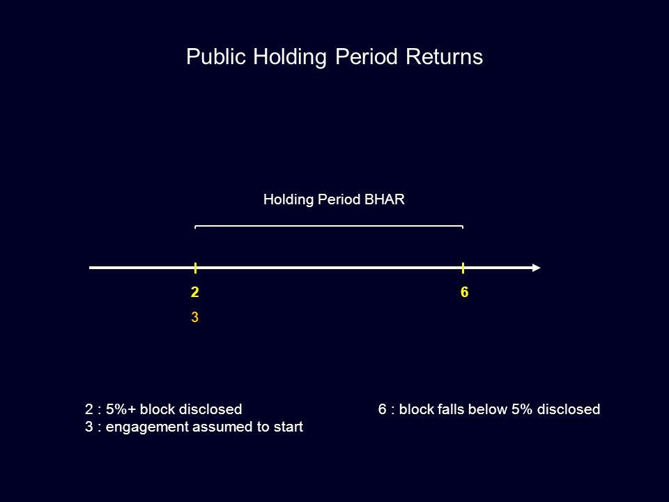Public Holding Period Returns