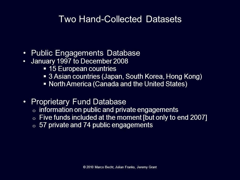 Two Hand-Collected Datasets