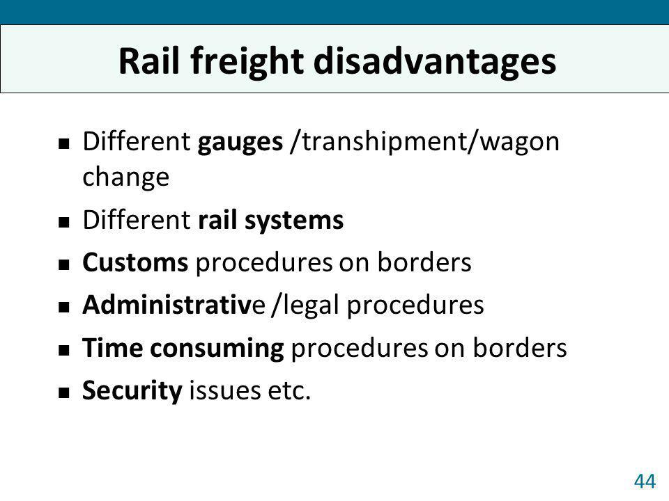 Rail freight disadvantages