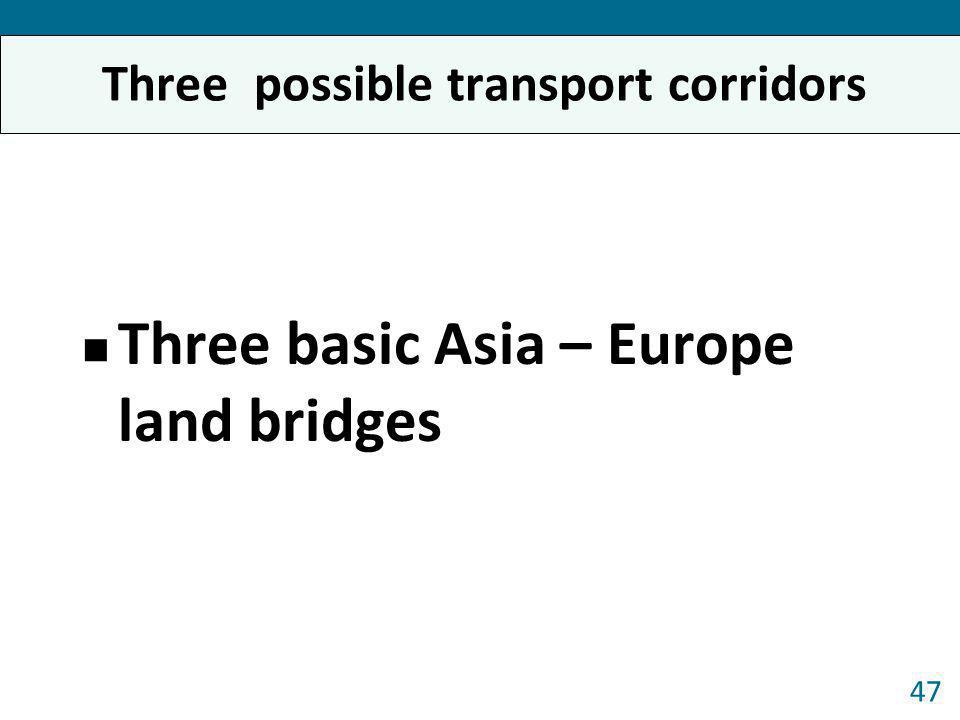 Three possible transport corridors