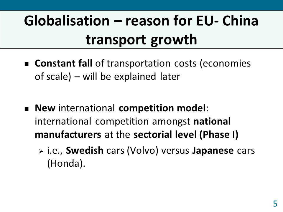 Globalisation – reason for EU- China transport growth
