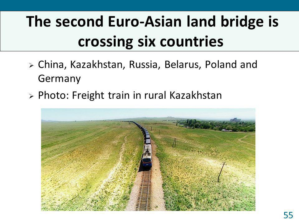 The second Euro-Asian land bridge is crossing six countries