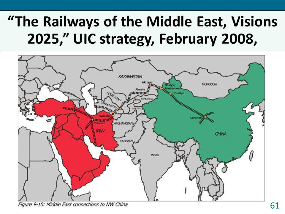 The Railways of the Middle East, Visions 2025, UIC strategy, February 2008,