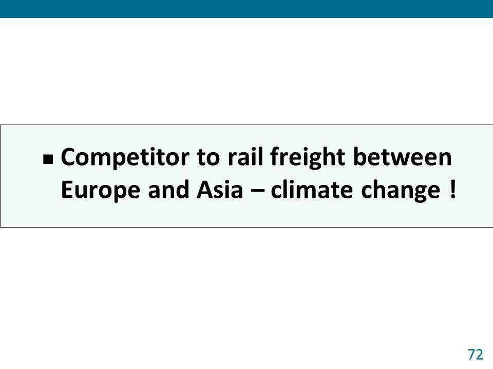Competitor to rail freight between Europe and Asia – climate change !
