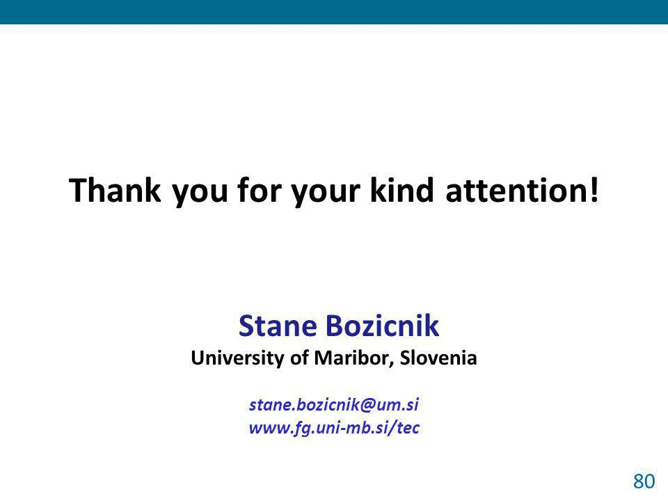 Thank you for your kind attention! University of Maribor, Slovenia