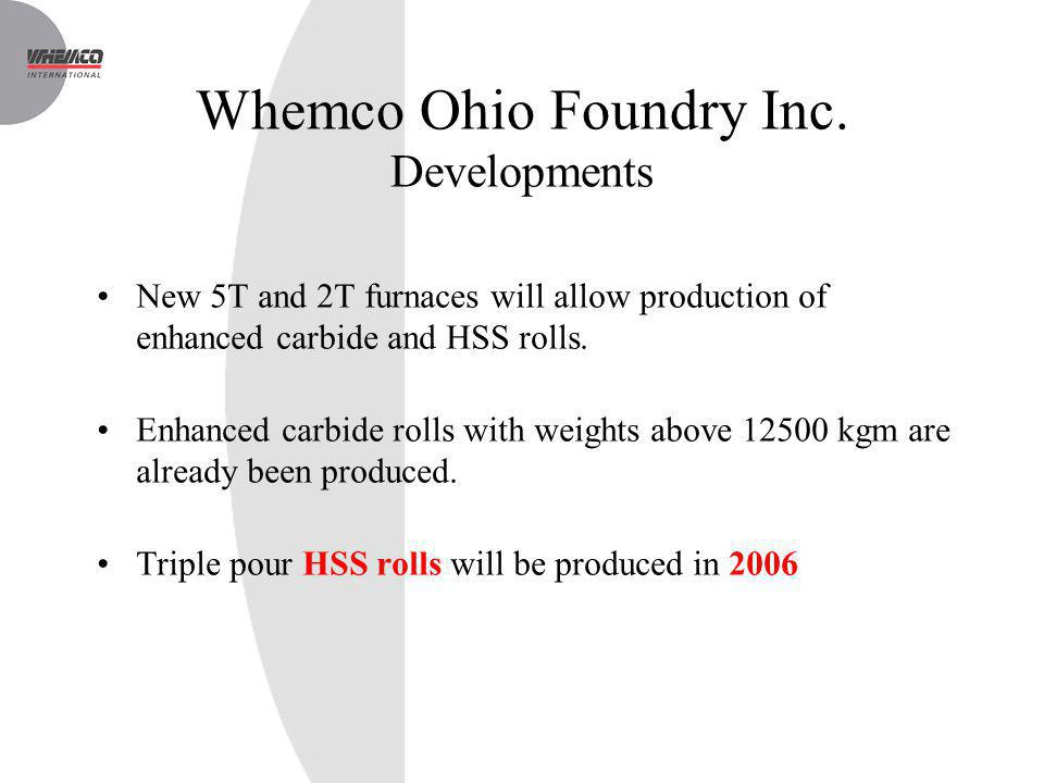 Whemco Ohio Foundry Inc. Developments