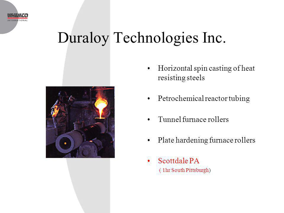 Duraloy Technologies Inc.