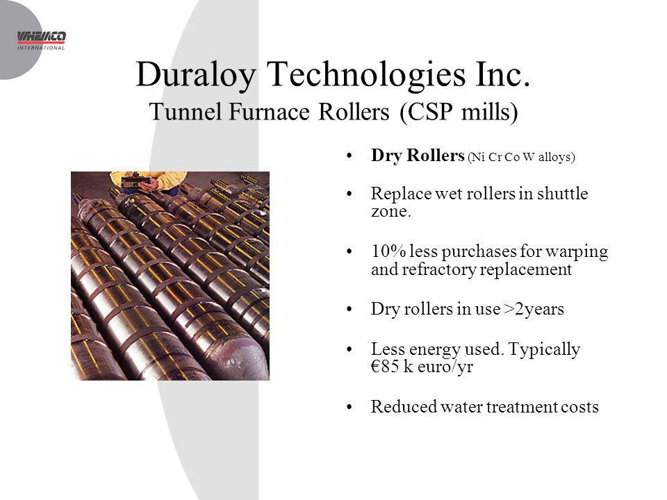 Duraloy Technologies Inc. Tunnel Furnace Rollers (CSP mills)