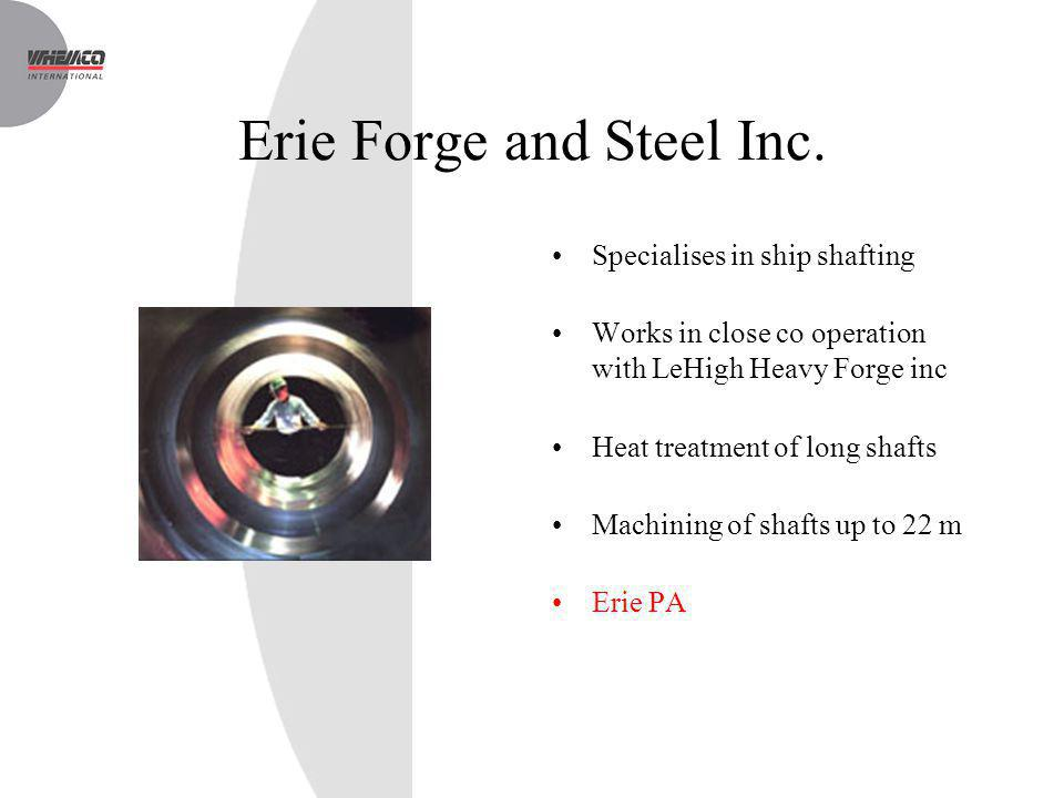 Erie Forge and Steel Inc.