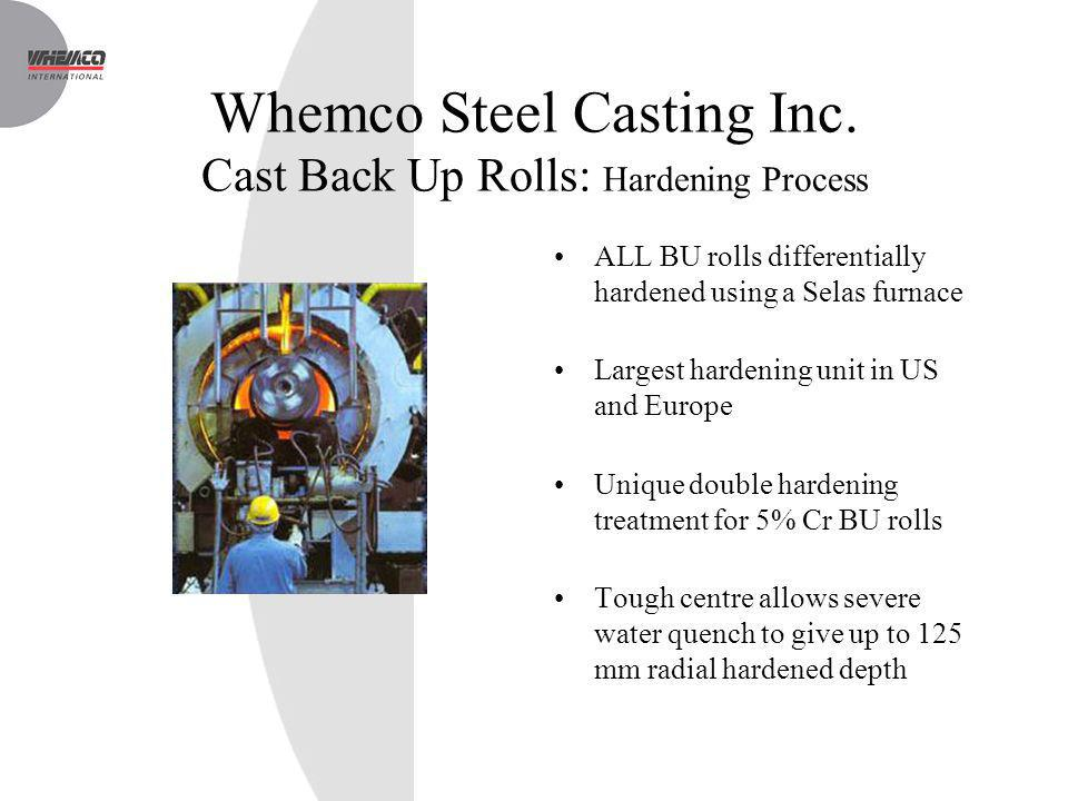 Whemco Steel Casting Inc. Cast Back Up Rolls: Hardening Process