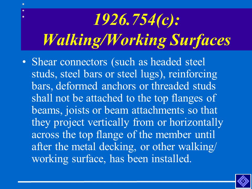 1926.754(c): Walking/Working Surfaces