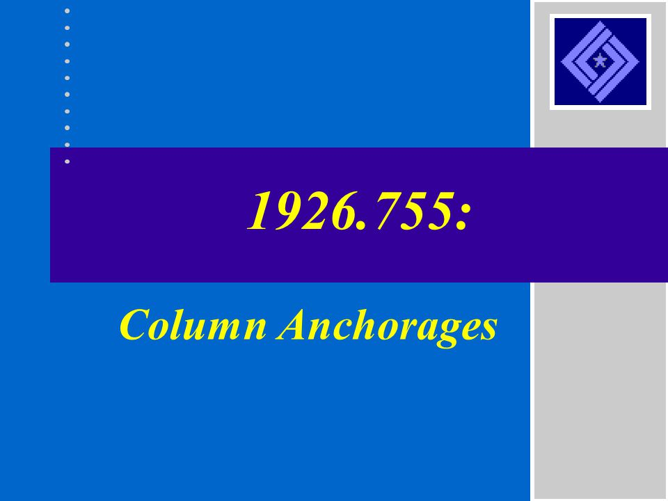 1926.755: Column Anchorages