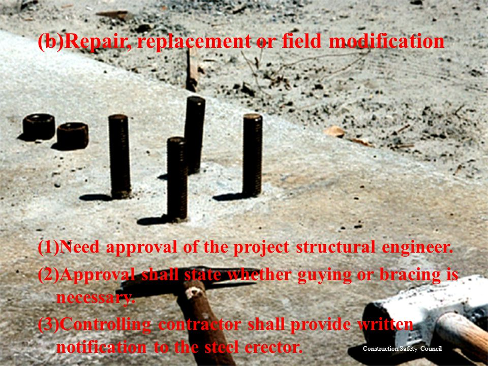 (b)Repair, replacement or field modification