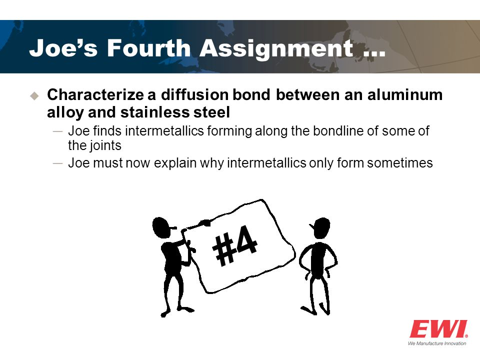 Joe's Fourth Assignment …