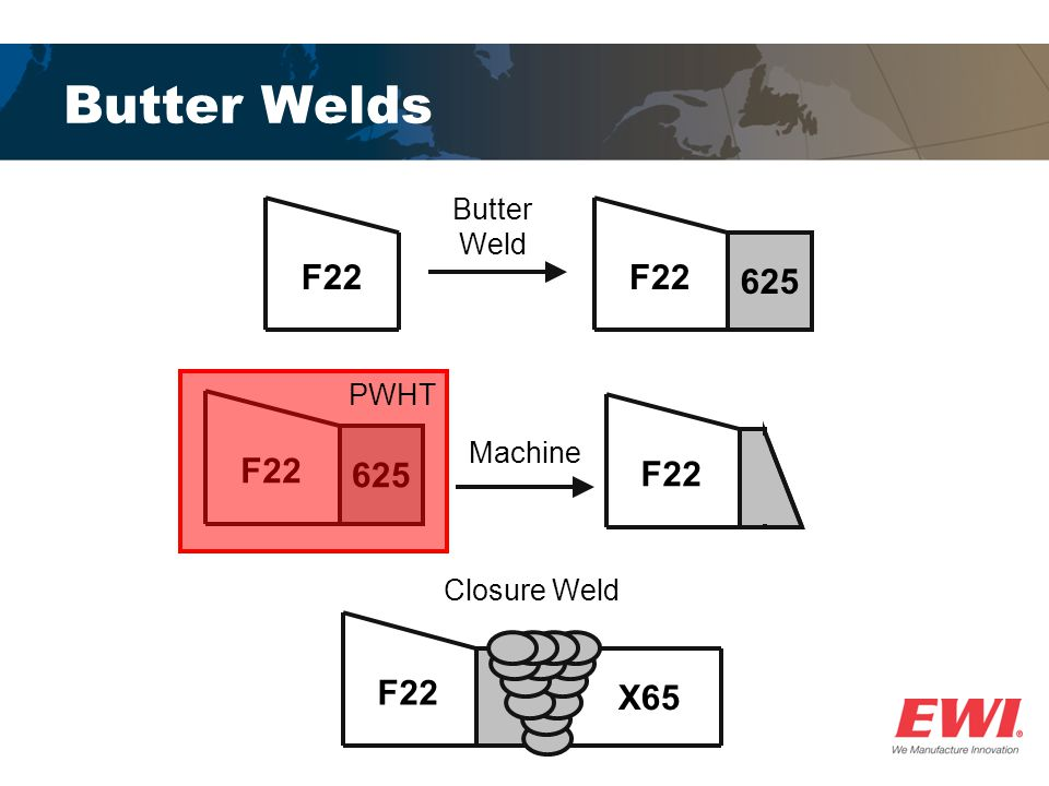 Butter Welds F22 F22 625 F22 625 F22 F22 X65 Butter Weld PWHT Machine