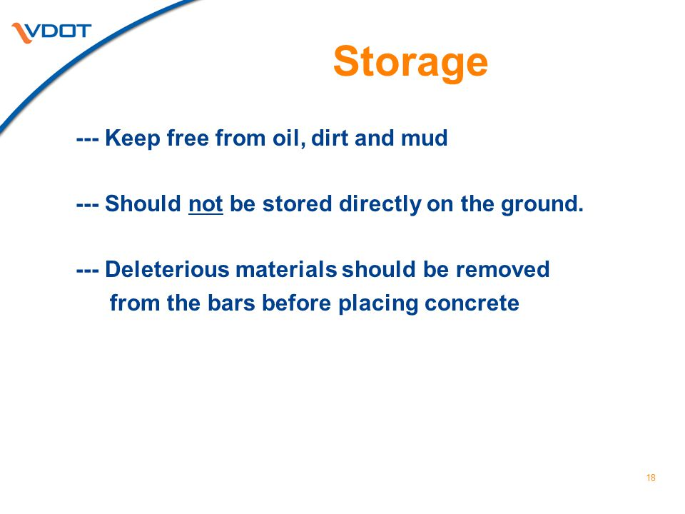 Storage --- Keep free from oil, dirt and mud