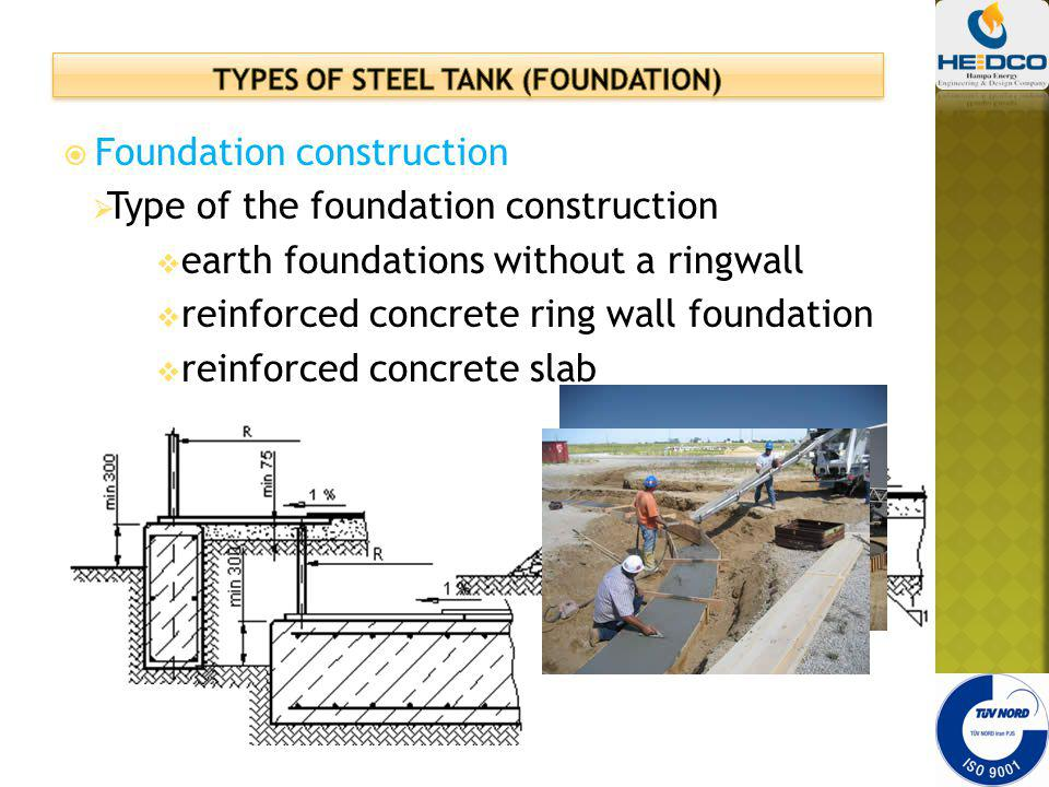 Types of steel tank (foundation)