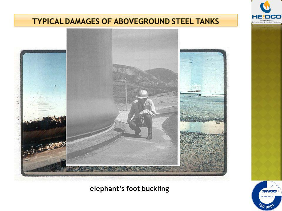 TYPICAL DAMAGES OF ABOVEGROUND STEEL TANKS