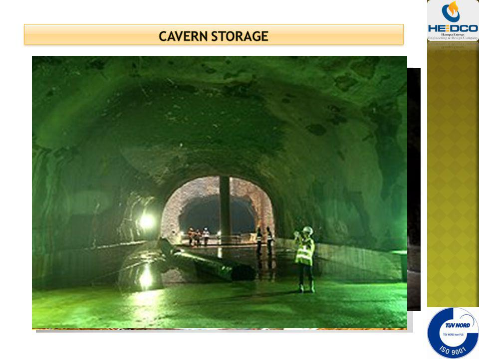 Cavern storage LNG in below ground caverns