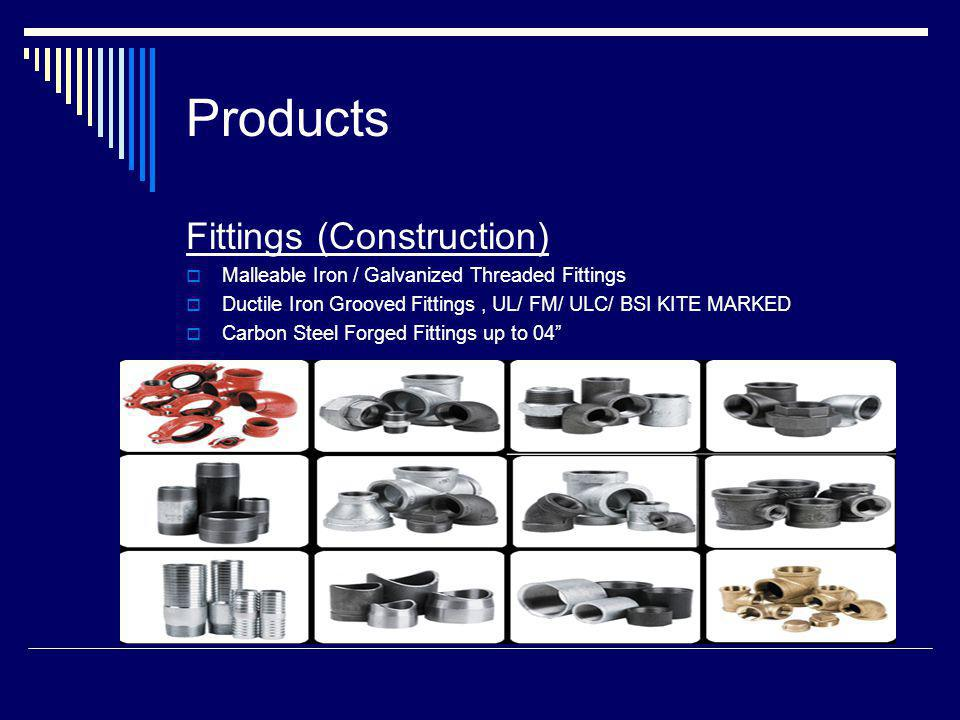 Products Fittings (Construction)