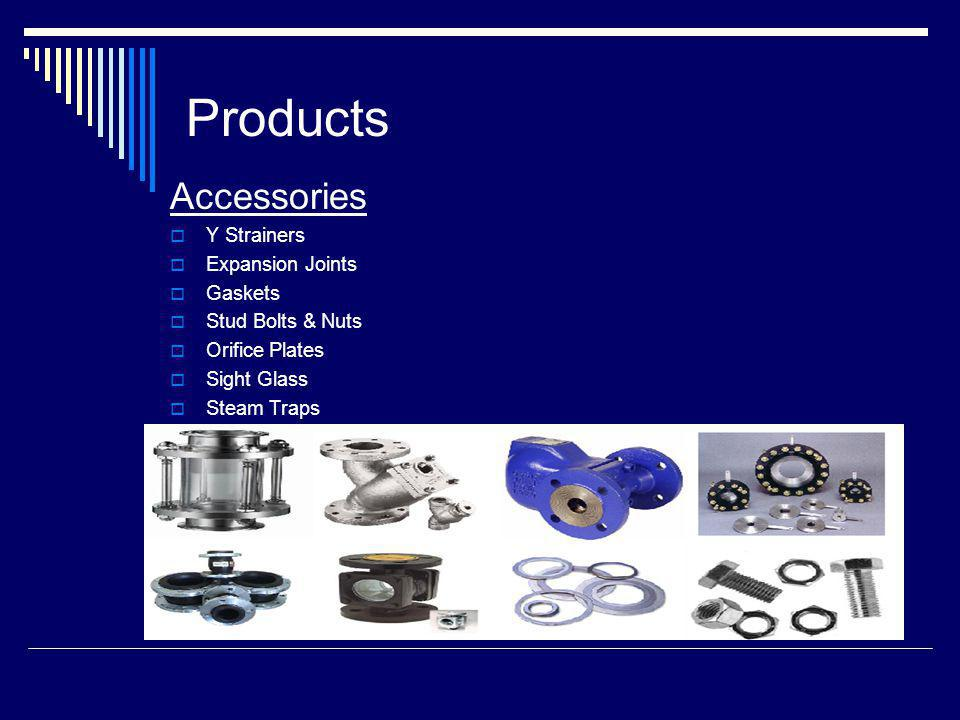 Products Accessories Y Strainers Expansion Joints Gaskets