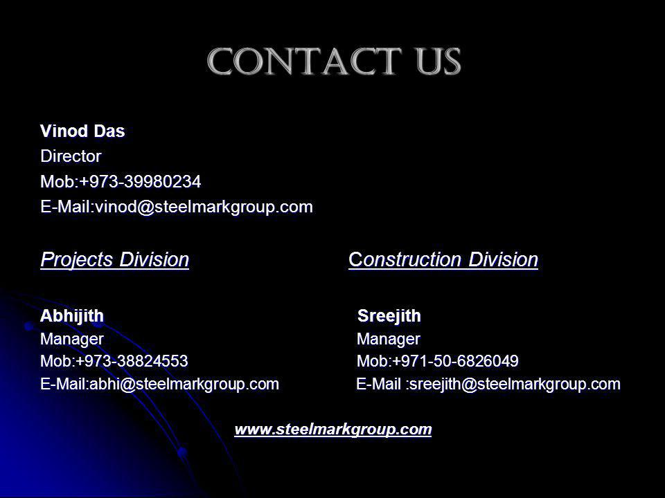 Contact Us Projects Division Construction Division Vinod Das Director
