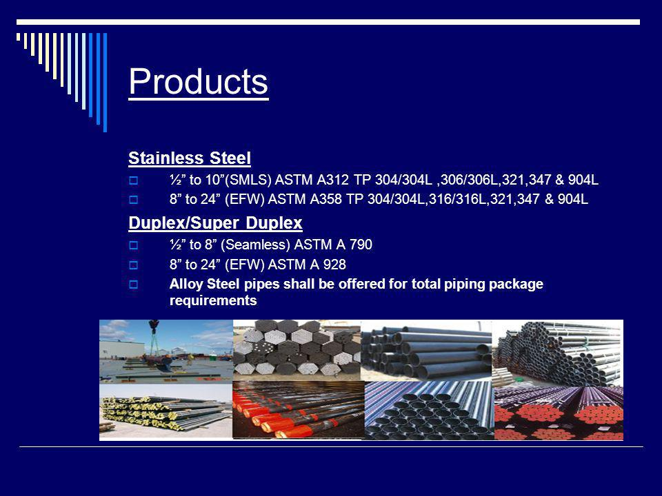 Products Stainless Steel Duplex/Super Duplex