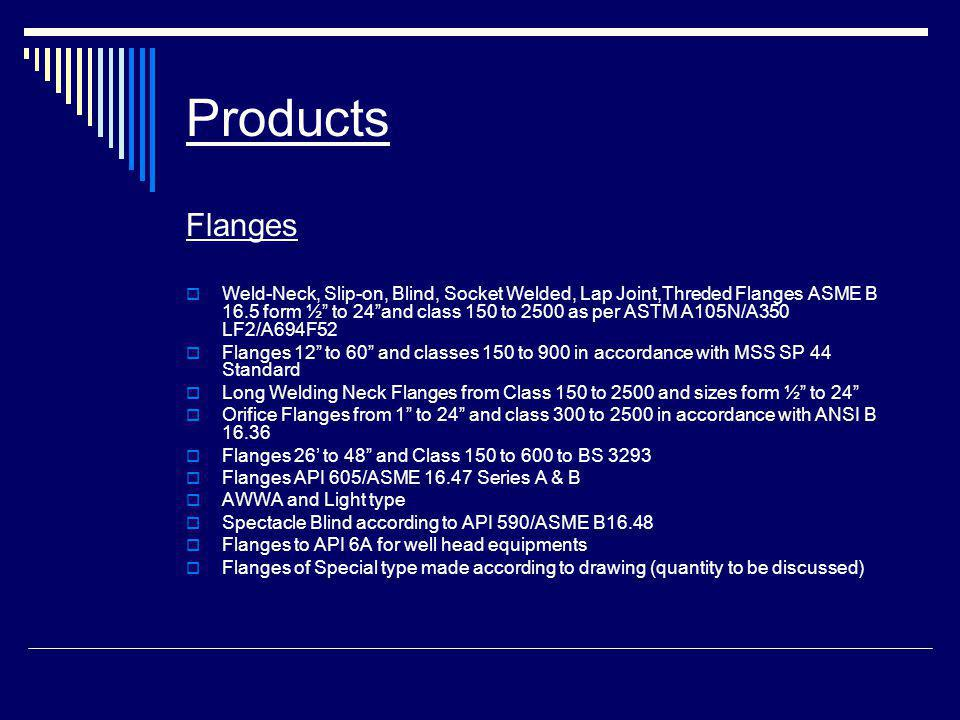 Products Flanges.