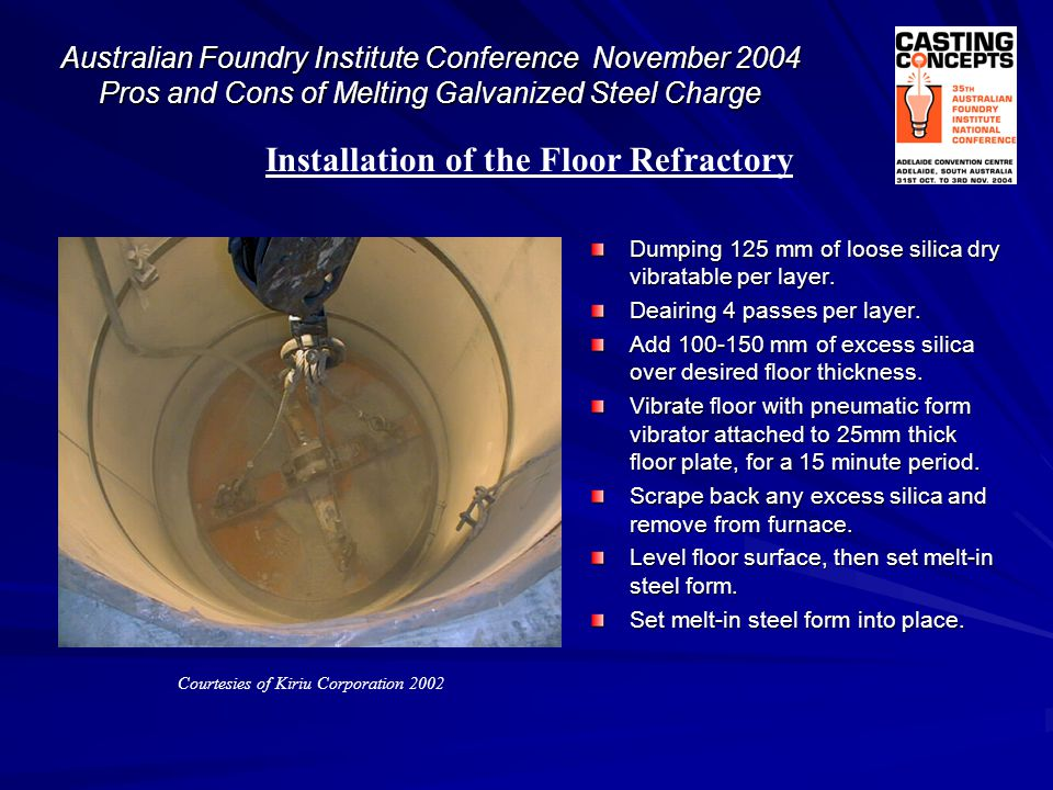Installation of the Floor Refractory