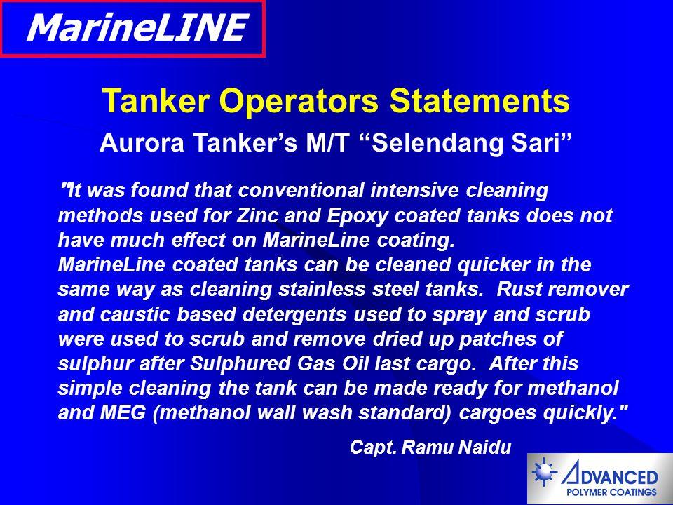 Tanker Operators Statements Aurora Tanker's M/T Selendang Sari