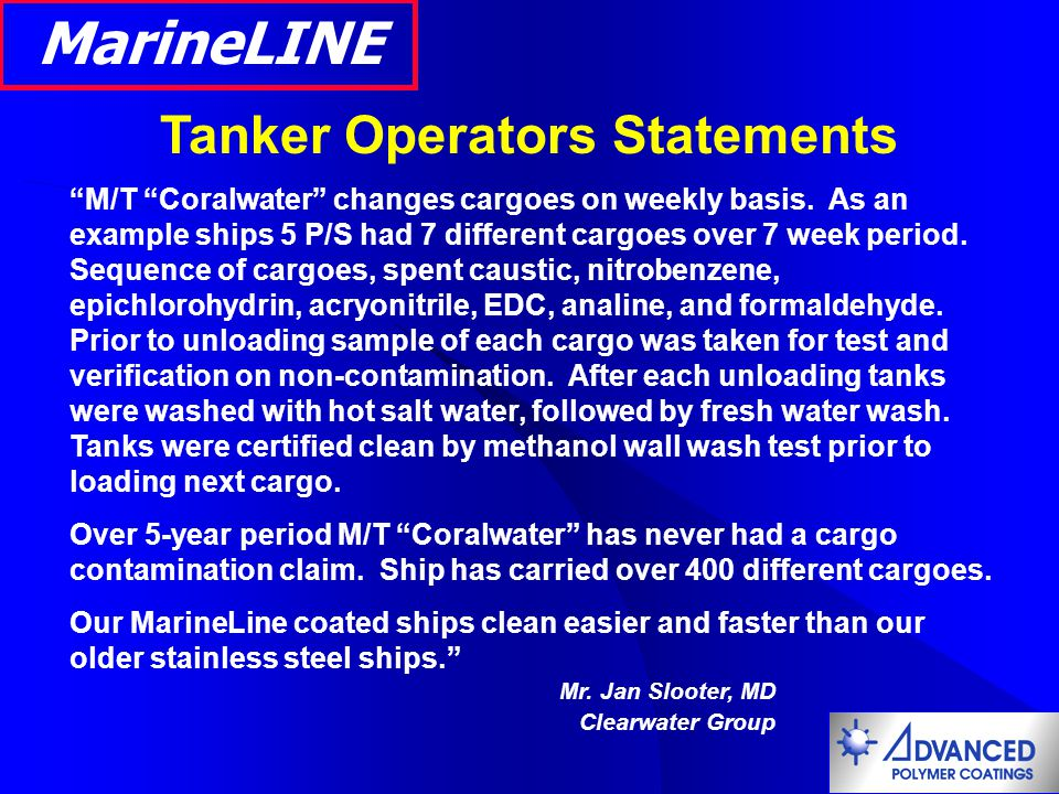 Tanker Operators Statements