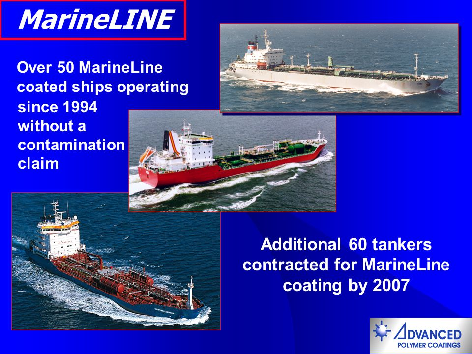 Additional 60 tankers contracted for MarineLine coating by 2007
