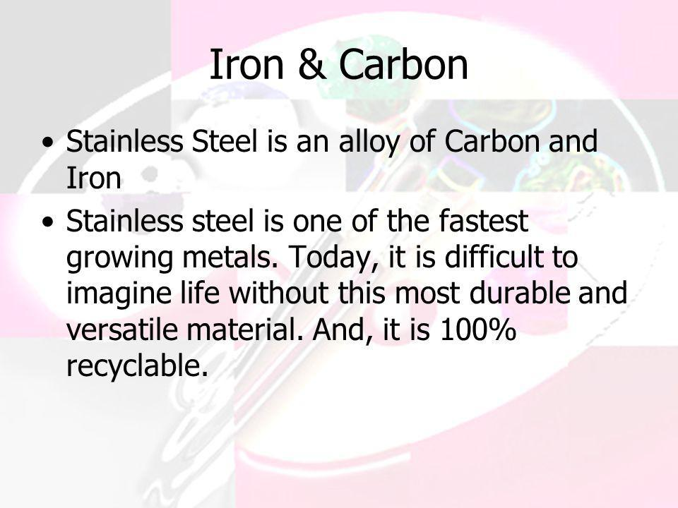 Iron & Carbon Stainless Steel is an alloy of Carbon and Iron
