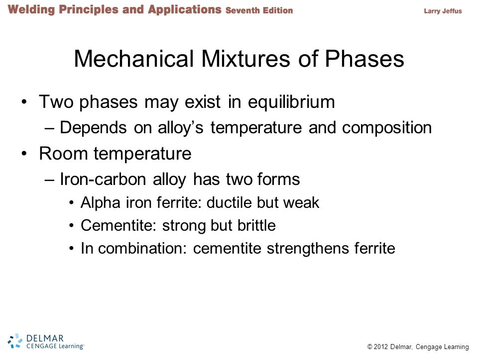 Mechanical Mixtures of Phases