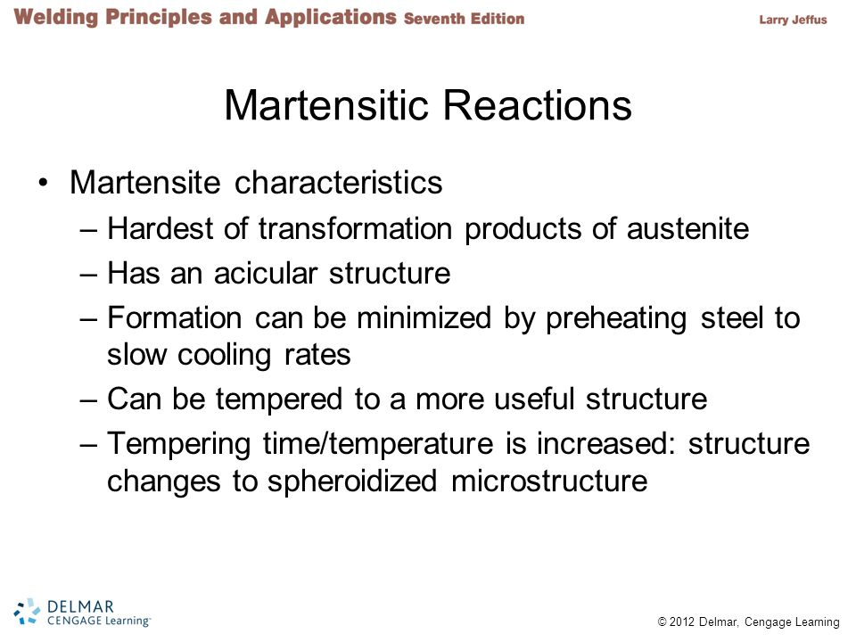 Martensitic Reactions