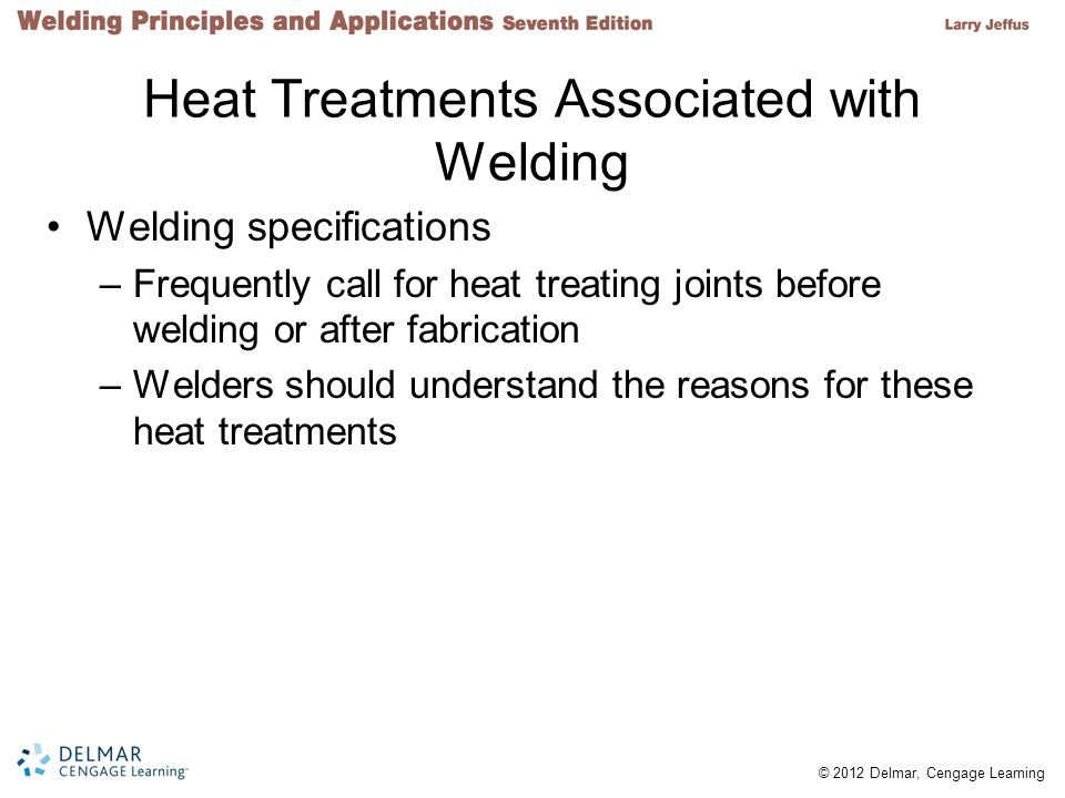 Heat Treatments Associated with Welding