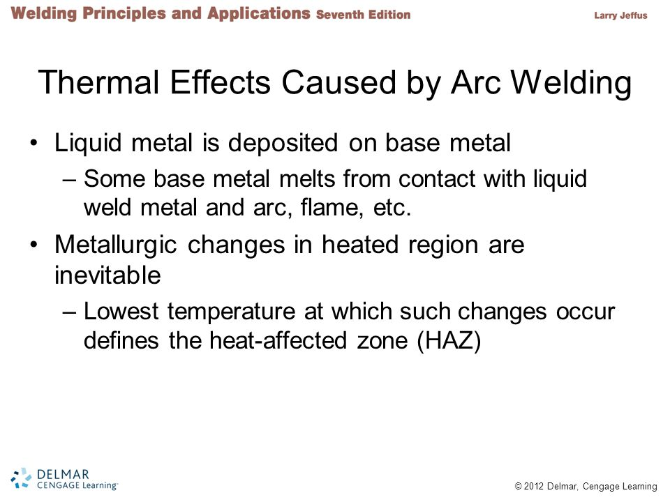 Thermal Effects Caused by Arc Welding