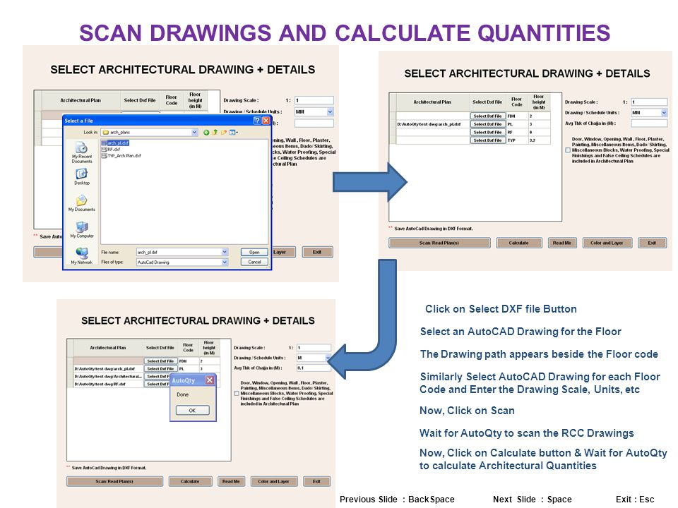 SCAN DRAWINGS AND CALCULATE QUANTITIES