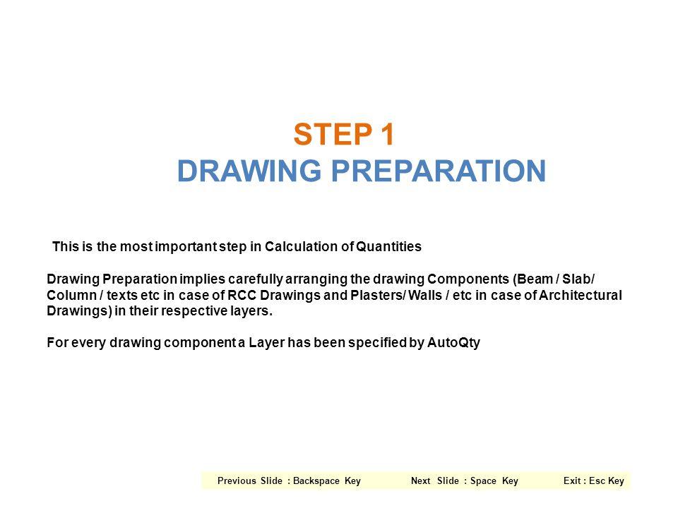 STEP 1 DRAWING PREPARATION